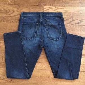 GAP slim straight Size 30 dark faded wash jeans.